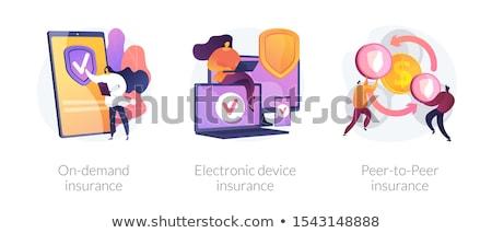 Demanda seguro vector metáfora servicio digital Foto stock © RAStudio