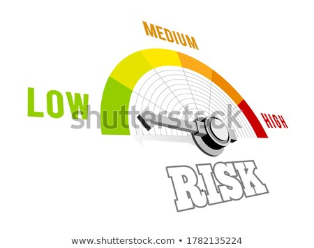 Low risk speedometer vector 3d illustration on white Stock photo © m_pavlov
