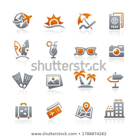 Verano vacaciones iconos grafito vector web Foto stock © Palsur