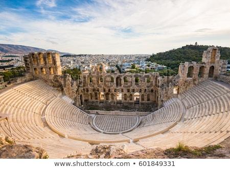 Acropolis · theater · details · Athene · gebouw · kunst - stockfoto © vladacanon