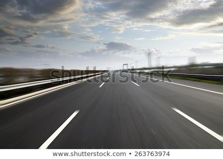 Альпы шоссе знак зеленый облаке улице знак Сток-фото © kbuntu
