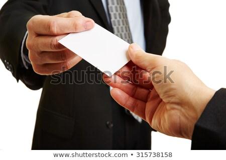 altos · mujer · de · negocios · tarjeta · de · visita · mujer - foto stock © dnsphotography