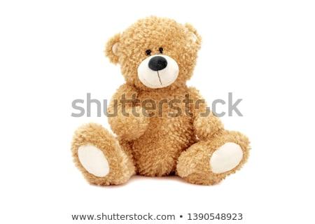 Pluche beer vrouw benen hart meisje Stockfoto © dolgachov