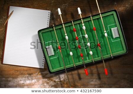 Piłka nożna notebooka vintage tekstury książki piłka nożna Zdjęcia stock © Archipoch
