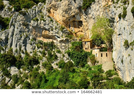 hermitage in Galamus Gorge, Languedoc-Roussillon, France Stock photo © phbcz