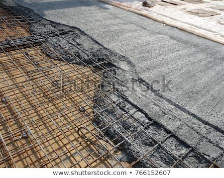 beton · draden · jonge · vrouw · permanente · sluiten · muur - stockfoto © Rebirth3d