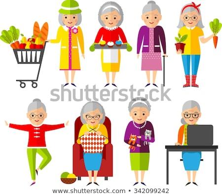 women in old cart stock photo © fotorobs