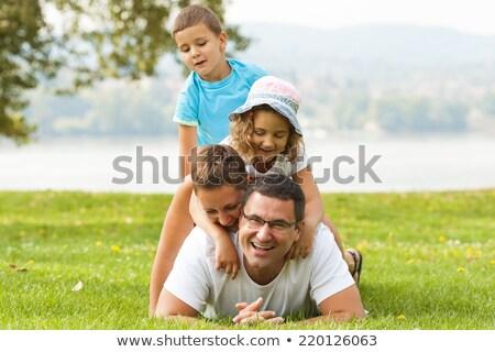 family piramide. meadow Stock photo © Paha_L