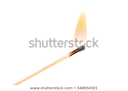 Yanan maç alev siyah yangın arka plan Stok fotoğraf © PaZo