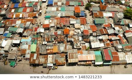 Филиппины трущобы город воды здании Сток-фото © joyr