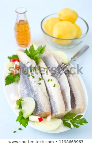 salty herring stock photo © Andriy-Solovyov
