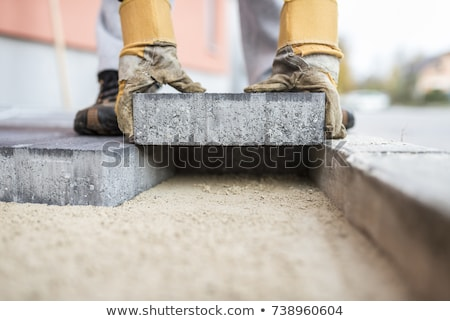 Builder laying foundations Stock photo © photography33
