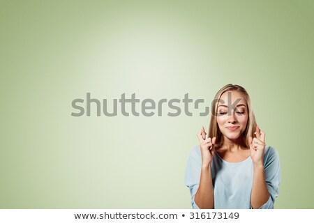 女性実業家 指 孤立した 白 ビジネス 女性 ストックフォト © ruigsantos
