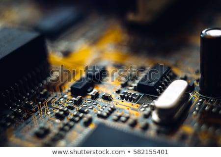 電子 コンポーネント マザーボード 表面 コンピュータ 科学 ストックフォト © pzaxe
