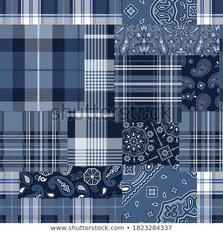 background patchwork plaid fabric Stock photo © RuslanOmega