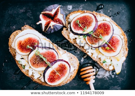goat cheese and fig stock photo © m-studio