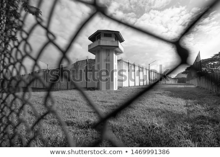 Ver torre nuvem silhueta branco militar Foto stock © jakatics