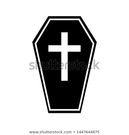 3dのレンダリング · 棺 · 墓 · 葬儀 - ストックフォト © lianem