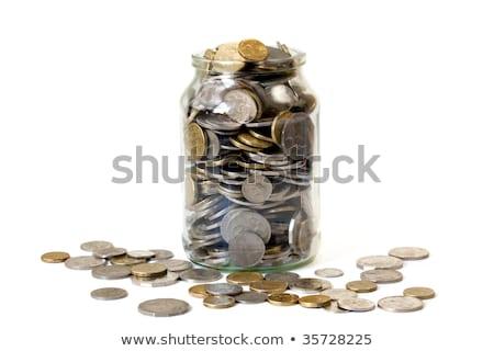 altın · dolar · para · imzalamak · kırmızı · mıknatıs - stok fotoğraf © 4designersart