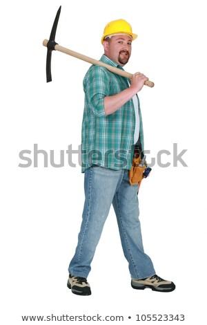 Homem ombro construção trabalhar homens Foto stock © photography33