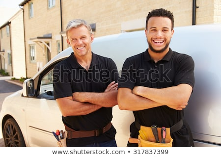 Portrait of a smiling tradesman Stock photo © photography33
