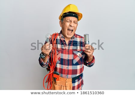 A mature shocked electrician. Stock photo © photography33