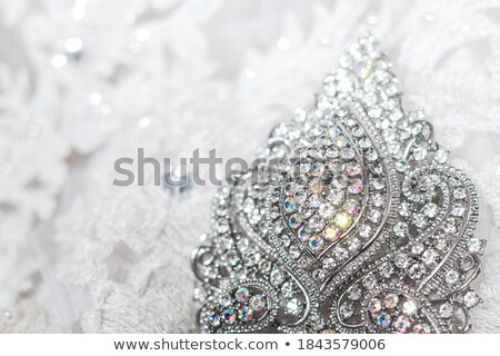Stock photo: background decorated precious sparkling diamond