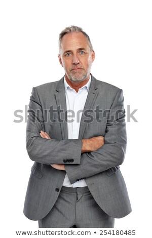 Portret ernstig man pak witte werk Stockfoto © wavebreak_media