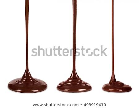 gorąca · czekolada · odizolowany · czarny · czekolady · pić - zdjęcia stock © arsgera