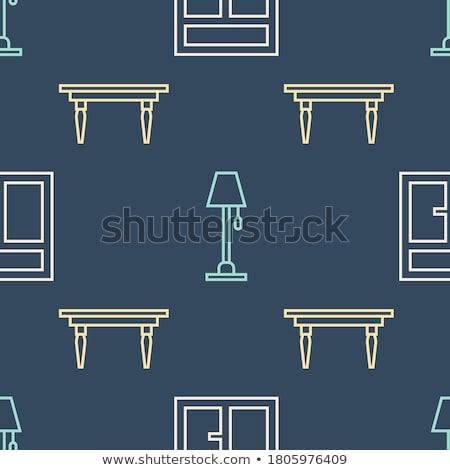 Blu stanza set senza soluzione di continuità casa Foto d'archivio © H2O