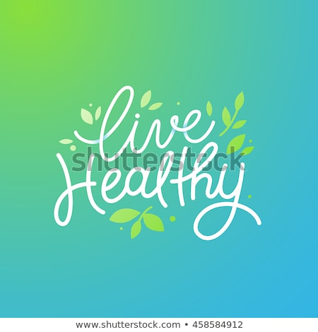 Healthy living with natural food and exercise Stock photo © Lightsource