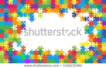 カラフル パズル ベクトル ポスター デザイン 背景 ストックフォト © krabata