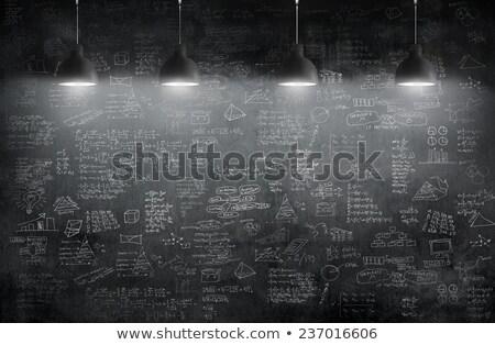 Idea on Blackboard stock photo © matteobragaglio