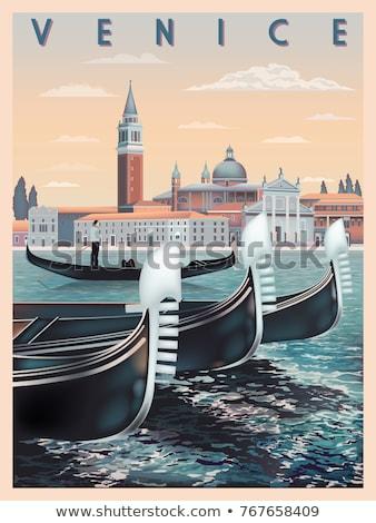 postcard of Venice, Italy Stock photo © nito