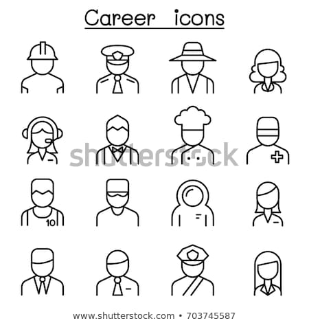Occupations icons (sports) Stock photo © carbouval