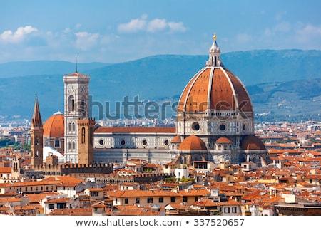katedral · Floransa · Cityscape · kilise · Retro - stok fotoğraf © aladin66