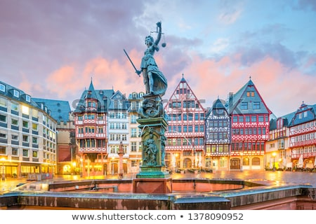 skyline · Frankfurt · Duitsland · nacht · financiële · centrum - stockfoto © dirkr