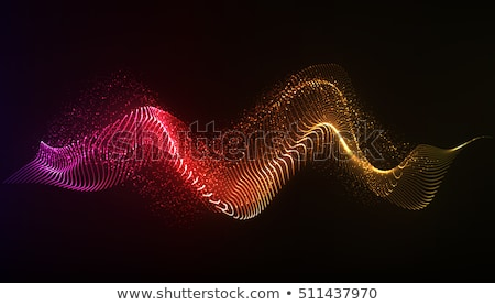 Sound waves on black background. EPS10 Stock photo © beholdereye