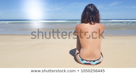 Topless young girl modelling Stock photo © stockyimages