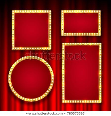 film · sátor · felirat · színház · üres · tábla · elegáns - stock fotó © sonofpromise