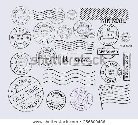 seamless texture of postage stamps stock photo © tashatuvango