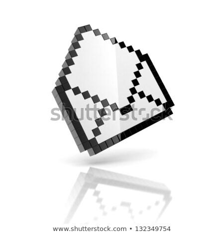 E-mail @ sign on pixel graphic background Stock photo © Anterovium