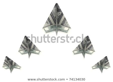 ウェッジ 紙 外に ドル アップ ストックフォト © cherezoff