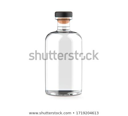 Conhaque garrafa isolado branco festa vinho Foto stock © Escander81