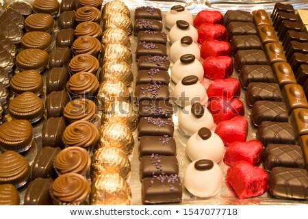 Bélgica foco branco chocolate grupo Foto stock © badmanproduction