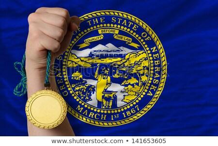 Aranyérem sport zászló amerikai Nebraska nyertes Stock fotó © vepar5