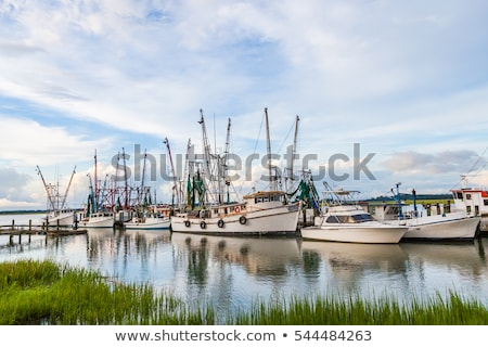 Docked Shrimp Boats Stock photo © sframe