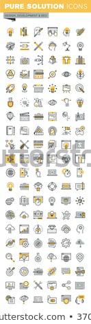 Cloud Software on Yellow in Flat Design. Stock photo © tashatuvango