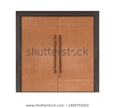Houten deuropening detail focus ontwerp Stockfoto © danielgilbey