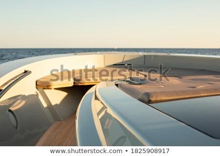 deniz · gün · batımı · gemi · tatil · seyir - stok fotoğraf © elisanth